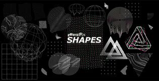 Free Modern Universal Trendy Shapes, Glitch Effects Royalty Free Stock Photo - 175732915