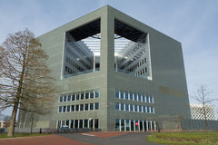 Modern universitetbyggnad royaltyfria bilder