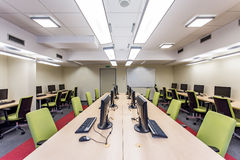 Modern university classroom with computers Stock Photos