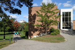 Modern university science building Stock Image