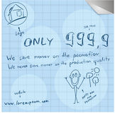 Modern unusually simple hand draw promotion poster Royalty Free Stock Photography