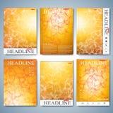 Modern uppsättning av broschyren, reklambladet, häftet, räkningen eller årsrapporten i formatet A4 för din design också vektor fö Royaltyfri Bild