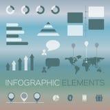 modern uppsättning av infographic beståndsdelar Royaltyfri Bild
