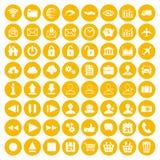 Modern uppsättning för gulinglägenhetsymbol av den rengöringsduk-, multimedia- och affärssymbolen Royaltyfria Foton