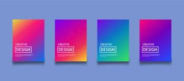 Modern uppsättning för mall för design för lutningfärgbakgrund Royaltyfri Bild