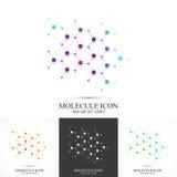 Modern uppsättningsymbolsdna och molekyl Vektormall för medicin, vetenskap, teknologi, kemi, bioteknik stock illustrationer