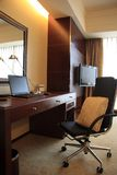 Modern upscale hotel room Royalty Free Stock Images