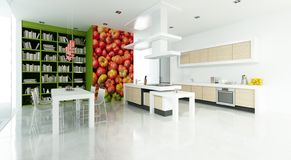 Modern upscale interior tomato royalty free illustration