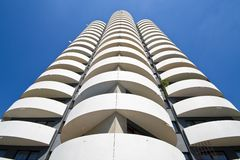 Modern urban apartment block Stock Photos