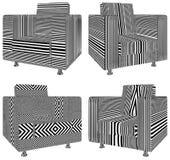 Modern Urban Armchair Illustration Vector Stock Image