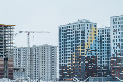 Modern urban building. New residential area .modern residential quarter of the city Stock Photography