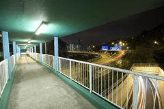 Modern urban city with Freeway Traffic at Royalty Free Stock Image