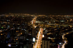 Modern Urban City At Night Stock Photo