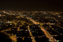 Modern Urban City At Night Royalty Free Stock Images