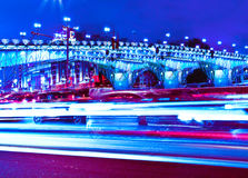 Modern urban city at night Royalty Free Stock Photo