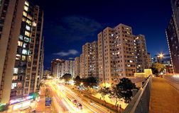 Modern urban city at night Royalty Free Stock Photography