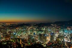 Modern Urban City At Night Royalty Free Stock Images