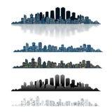 Modern Urban City  on White background. Royalty Free Stock Image