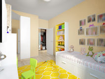 Modern Urban Contemporary Children Room Interior Design Royalty Free Stock Photography