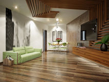 Modern Urban Contemporary Living Room Interior Design Stock Image