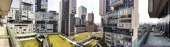 Modern urban housing Panorama Stock Photography