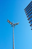 Modern urban lamp. With blue sky as background Royalty Free Stock Photos