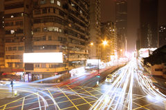 Modern urban landscape at night Royalty Free Stock Photos