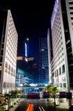 Modern urban landscape at night Stock Photos