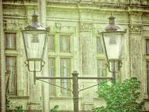 Modern urban lighting system with retro design Royalty Free Stock Photography