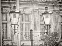 Modern urban lighting system with retro design Stock Images