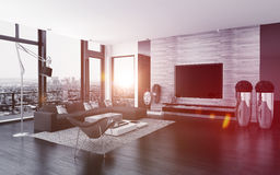 Modern urban living room interior Stock Photography