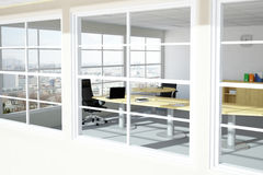 Modern urban office room Stock Images