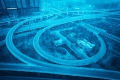Modern urban overpass closeup Stock Image