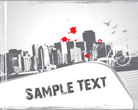 Modern urban scene with sample text Royalty Free Stock Photo