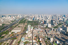 Modern Urban Skyline of Bangkok in the Morning Royalty Free Stock Photography