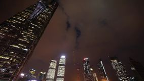 Modern urban skyscrapers,shanghai lujiazui economic landmarks at night.   gh2_07057 stock footage
