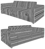Modern Urban Sofa Illustration Vector Royalty Free Stock Image