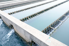 Modern urban wastewater treatment plant Stock Images