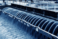 Modern urban wastewater treatment plant in shanghai Royalty Free Stock Photography