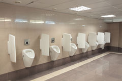 Modern urinals Royalty Free Stock Images