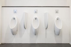 Modern urinals Stock Photography