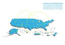 Modern of USA Territories Map connections network design, Best Internet Concept of USA Territories map business from concepts seri royalty free illustration