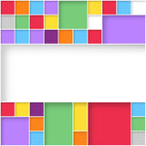 Modern user interface flat design colorful squares Royalty Free Stock Images