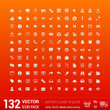 Modern user interface flat mono icons, pixels Stock Image