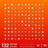 Modern user interface flat mono icons, pixels Stock Image