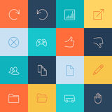 Modern user interface line icons, pixels perfect Stock Photography