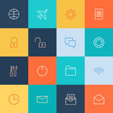 Modern user interface line icons, pixels perfect Royalty Free Stock Image