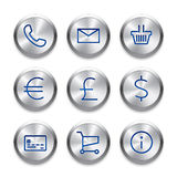 Modern user interface line icons, pixels perfect Stock Image