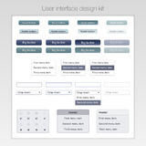 Modern user interface screen button template for Royalty Free Stock Photo