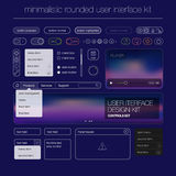 Modern user interface screen button template for Royalty Free Stock Image